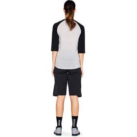 Mons Royale W's Phoenix Raglan MR Box OL 3/4 T-Shirt Black/Grey Marl